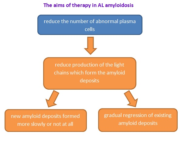 AL amyloidosis treatment aims flowchart
