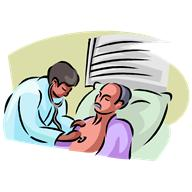 patient being checked by doctor